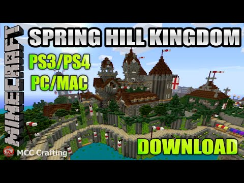 Minecraft PS3/PS4 Spring Hill Kingdom Medieval Large Map World ...
