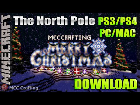 minecraft ps3 ps4 the north pole christmas free roam adventure map download